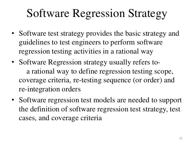 risk based testing and regression testing