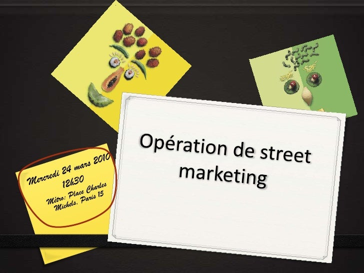 Opération de street marketing<br />Mercredi 24 mars 2010<br />12h30<br />Métro: Place Charles Michels, Paris 15<br />