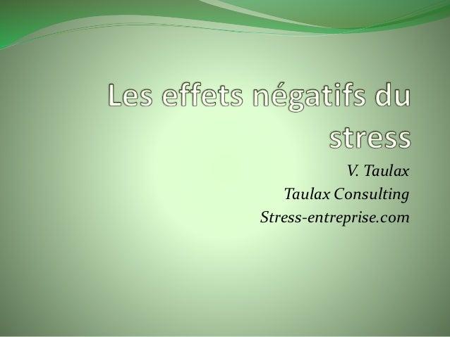 V. Taulax  Taulax Consulting  Stress-entreprise.com