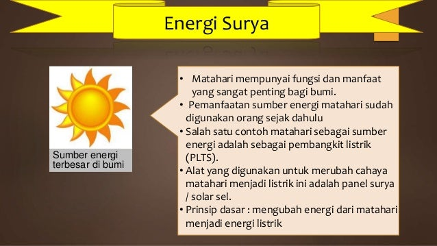 Sumber Energi Materi Sma