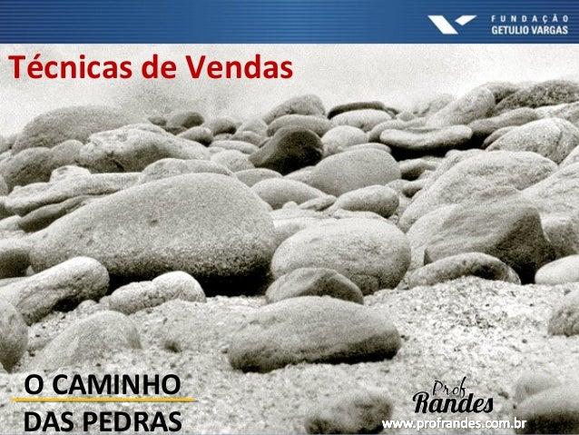 Técnicas de Vendas O CAMINHO DAS PEDRAS