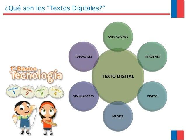 """¿Qué son los """"Textos Digitales?"""" TEXTO DIGITAL ANIMACIONES IMÁGENES VIDEOS MÚSICA SIMULADORES TUTORIALES"""