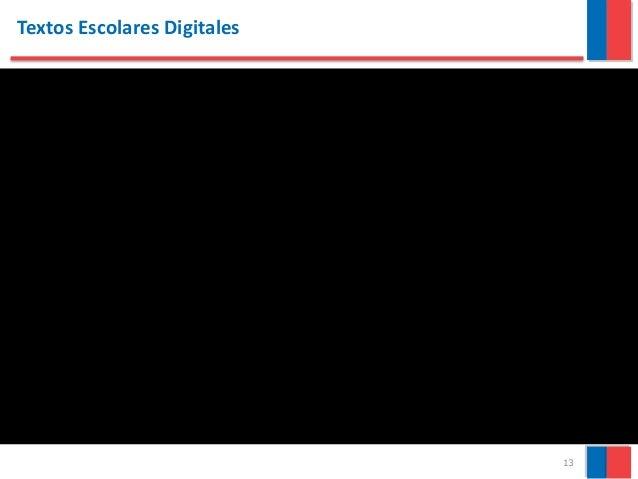 13 Textos Escolares Digitales