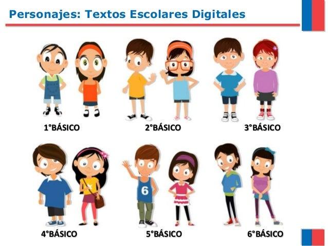 Personajes: Textos Escolares Digitales 1°BÁSICO 2°BÁSICO 3°BÁSICO 4°BÁSICO 5°BÁSICO 6°BÁSICO