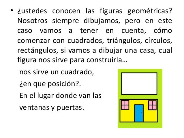 el dibujo y las figuras geometricas