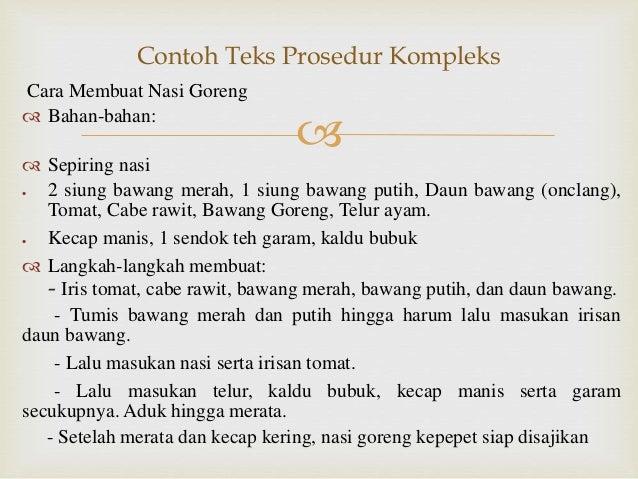 Ppt Teks Prosedur Kompleks