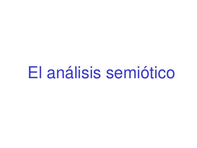 El análisis semiótico