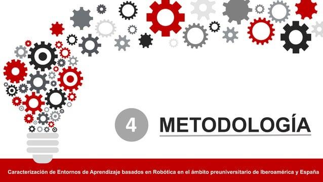 METODOLOGÍA Caracterización4de4Entornos4de4Aprendizaje4basados4en4Robótica4en4el4ámbito4preuniversitario4de4Iberoamérica4y...