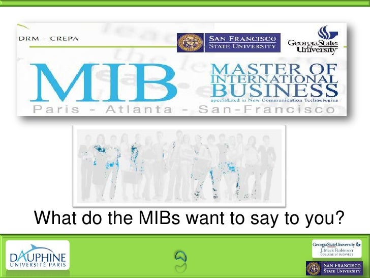 What do the MIBs want to say to you?<br />