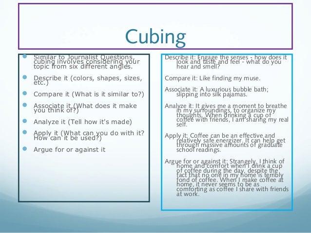 cubing in writing