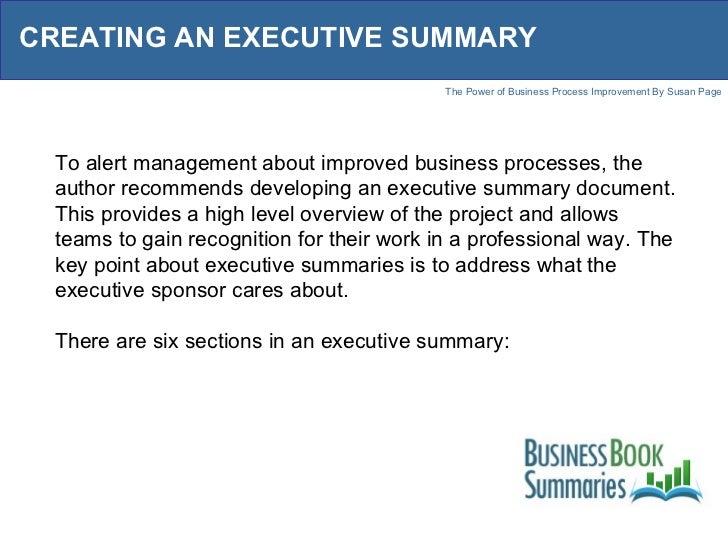 How to Create an Executive Summary