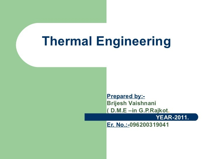 thermal engineering ballaney