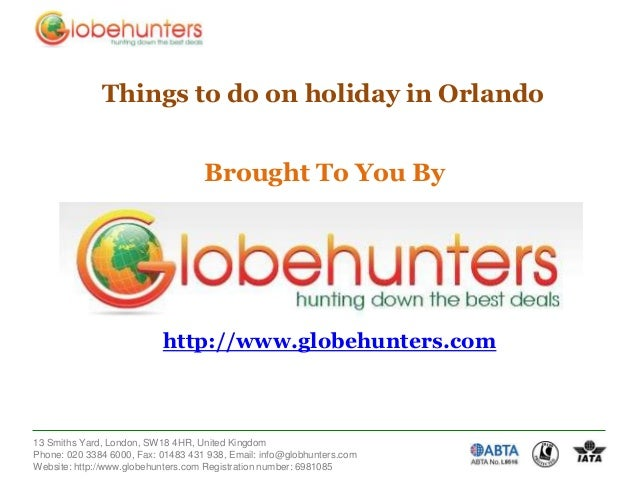 Things to do on holiday in Orlando  Brought To You By  http://www.globehunters.com  13 Smiths Yard, London, SW18 4HR, Unit...