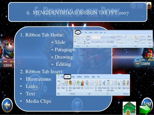 6. Ribbon Tab Review: • Proofing • Comments • Protect 7. Ribbon Tab View: • Presentation Views • Show/Hide • Zoom • Color/...