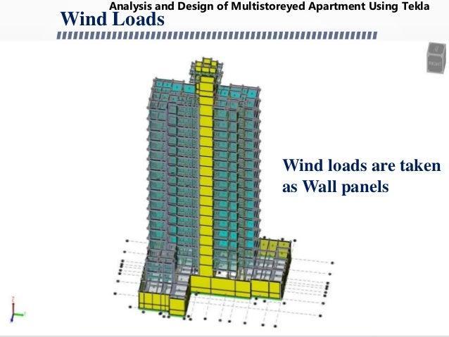 Design of 16 storied apartment using TEKLA STRUCTURAL DESIGNER