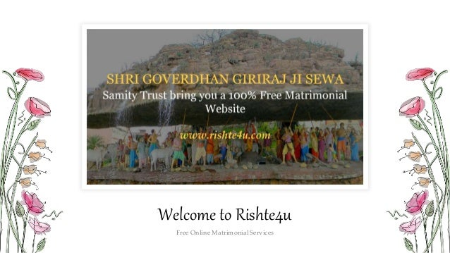 Welcome to Rishte4u Free Online Matrimonial Services