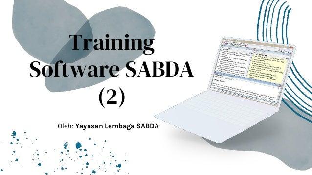 Pelatihan Software SABDA