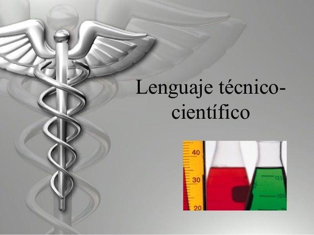 Lenguaje técnico-científico