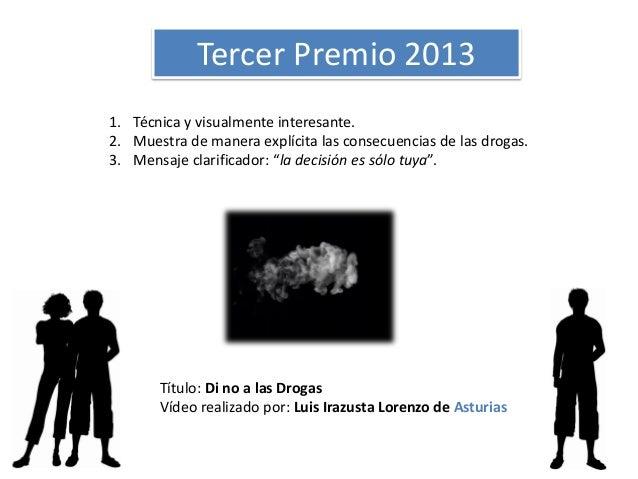 """Entrega de premios III Edición concurso de vídeos """" Y tú, ¿cómo controlas?"""" Slide 3"""