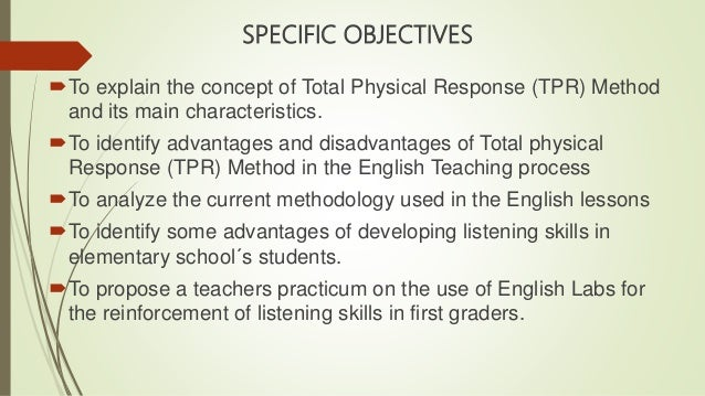 Tpr methodology of the study