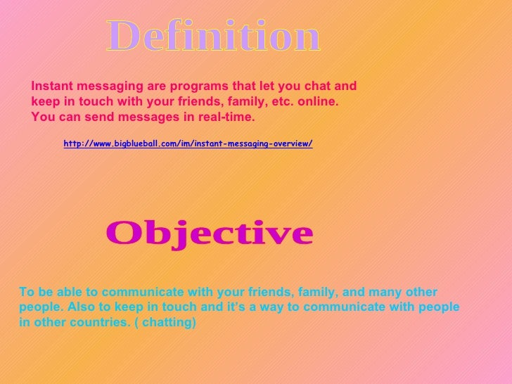 Instant Messaging Programs : Ppt vinisha and giovanna instant messaging