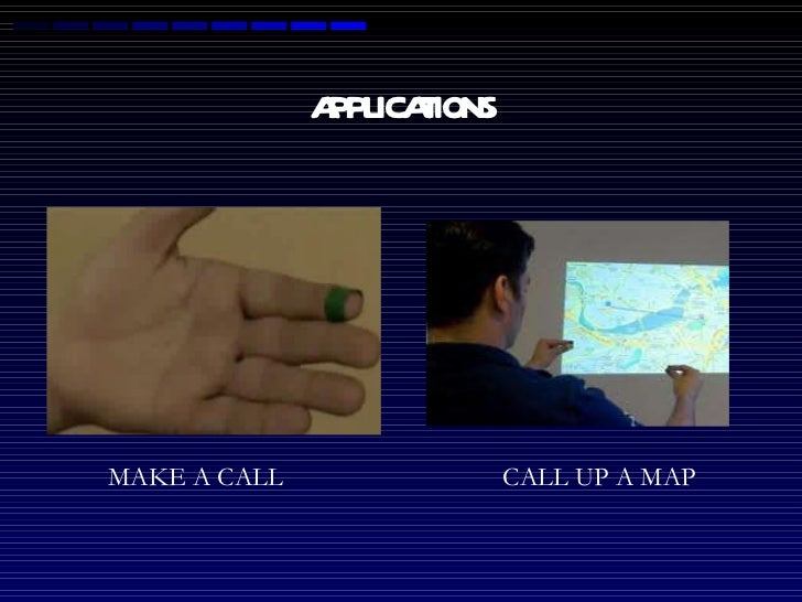 APPLICATIONS MAKE A CALL CALL UP A MAP