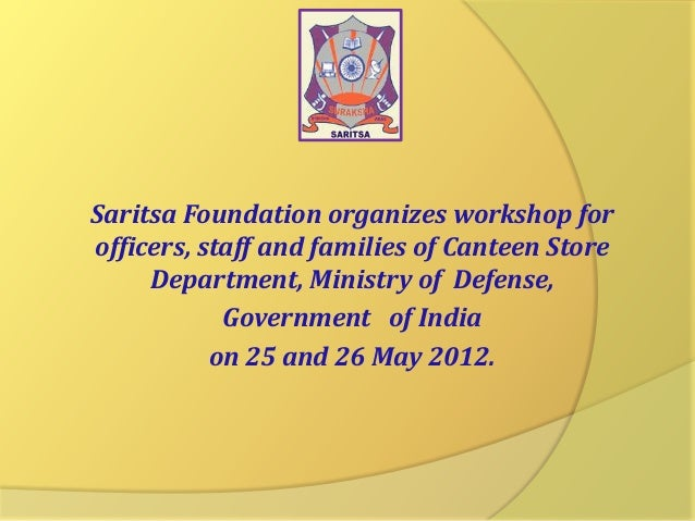 Saritsa Foundation organizes workshop for officers, staff and families of Canteen Store Department, Ministry of Defense, G...