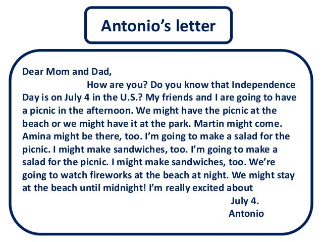 write a letter to your uncle