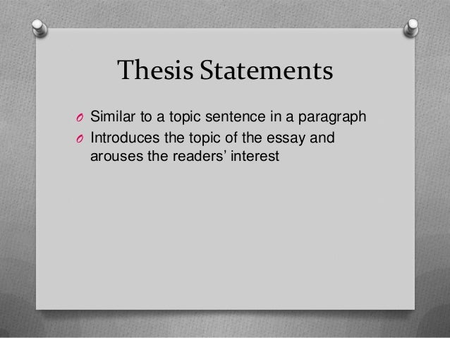 The thesis statement usually appears in the introductory paragraph