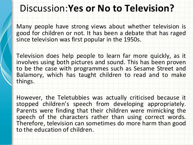 television does more harm than good argumentative essay