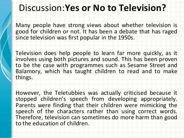 television does more harm than good argumentative essay