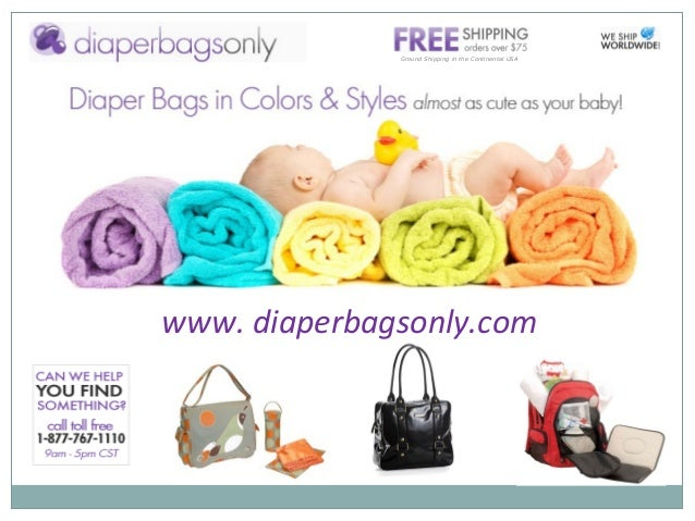 Ground Shipping in the Continental USA www. diaperbagsonly.com