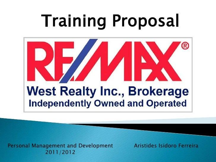 Training ProposalPersonal Management and Development   Aristides Isidoro Ferreira             2011/2012