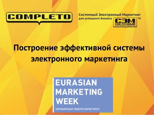 Построение эффективной системы    электронного маркетинга