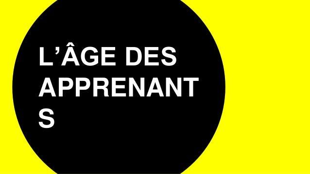 L'ÂGE DES APPRENANT S
