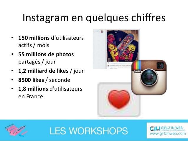 Instagram en quelques faits • Instagram est très utilisé par les célébrités • 13% des internautes mondiaux utilisent insta...