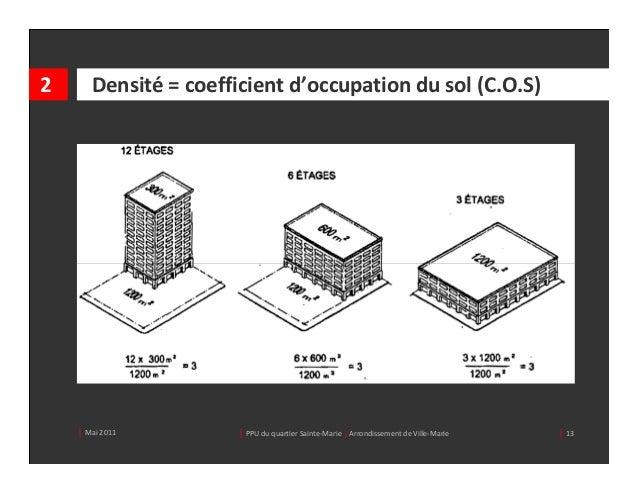 2      Densité =coefficientd'occupationdusol(C.O.S)    │ Mai2011         │ PPUduquartierSainte‐Marie| Arrondisse...