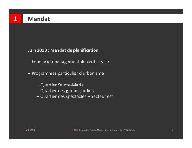 1      Mandat       Juin2010:mandatdeplanification       – Énoncé d'aménagementducentre‐ville       – Programmesp...