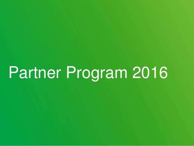 Partner Program 2016