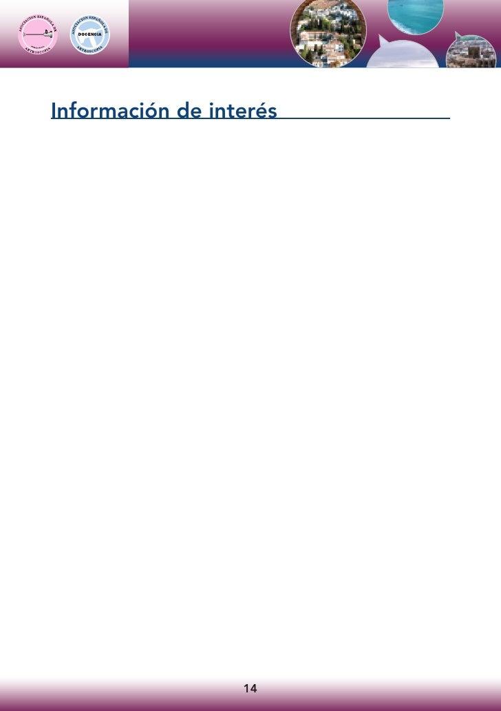 Información de interés                       14