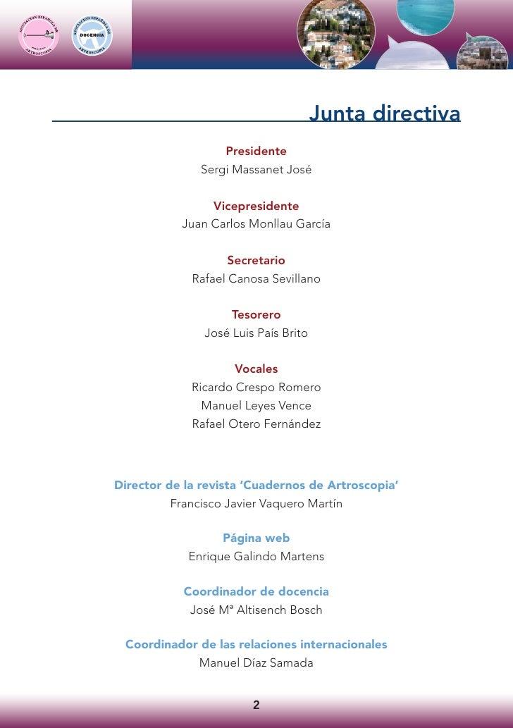 Junta directiva                   Presidente               Sergi Massanet José                  Vicepresidente            ...
