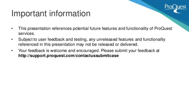 Upcoming ProQuest User Interface Improvements