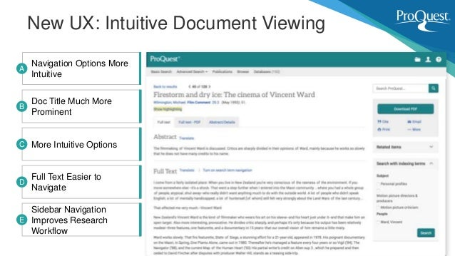 New UX: Intuitive Document Viewing Navigation Options More Intuitive A Doc Title Much More Prominent B More Intuitive Opti...