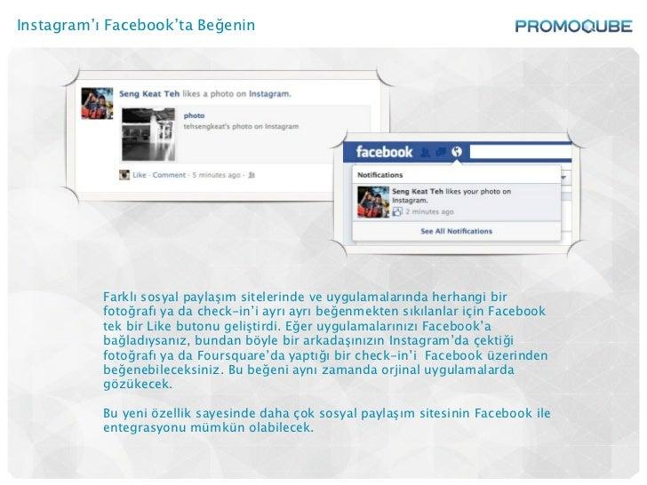 Instagram'ı Facebook'ta Beğenin           Farklı sosyal paylaşım sitelerinde ve uygulamalarında herhangi bir           fot...