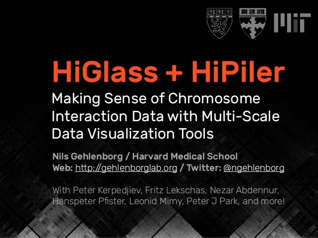 HiGlass + HiPiler Making Sense of Chromosome Interaction Data with Multi-Scale Data Visualization Tools Nils Gehlenborg / ...