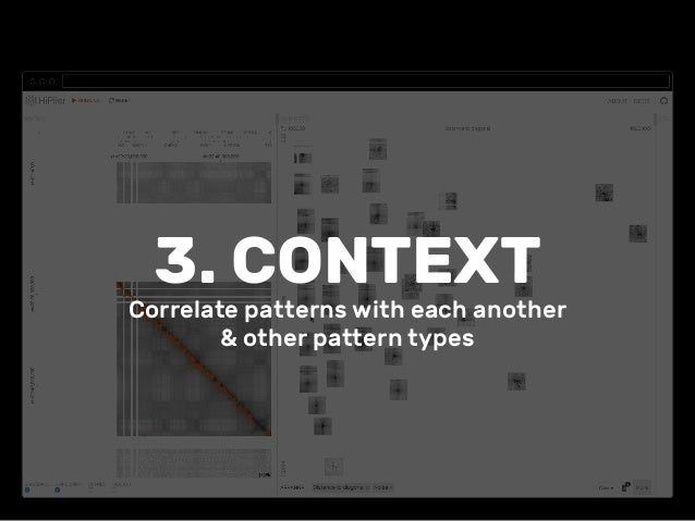 3. CONTEXT Correlate patterns with each another & other pattern types