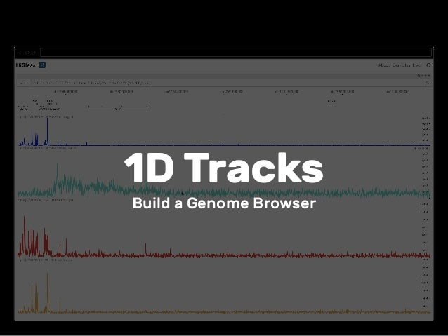 1D Tracks Build a Genome Browser