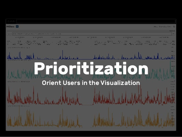 Prioritization Orient Users in the Visualization