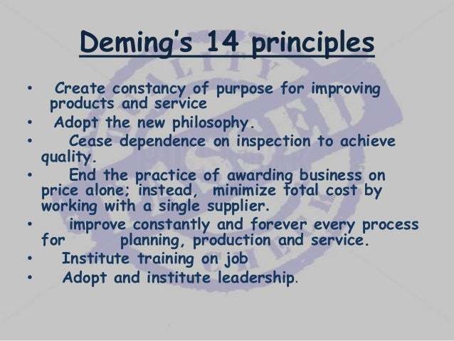 juran 14 point D the fourteen points for management the system of profound knowledge expanded by deming helps to generate an interrelated set of 14 points for leadership in the western world these 14 points provided guidelines for the shifts in thinking they.