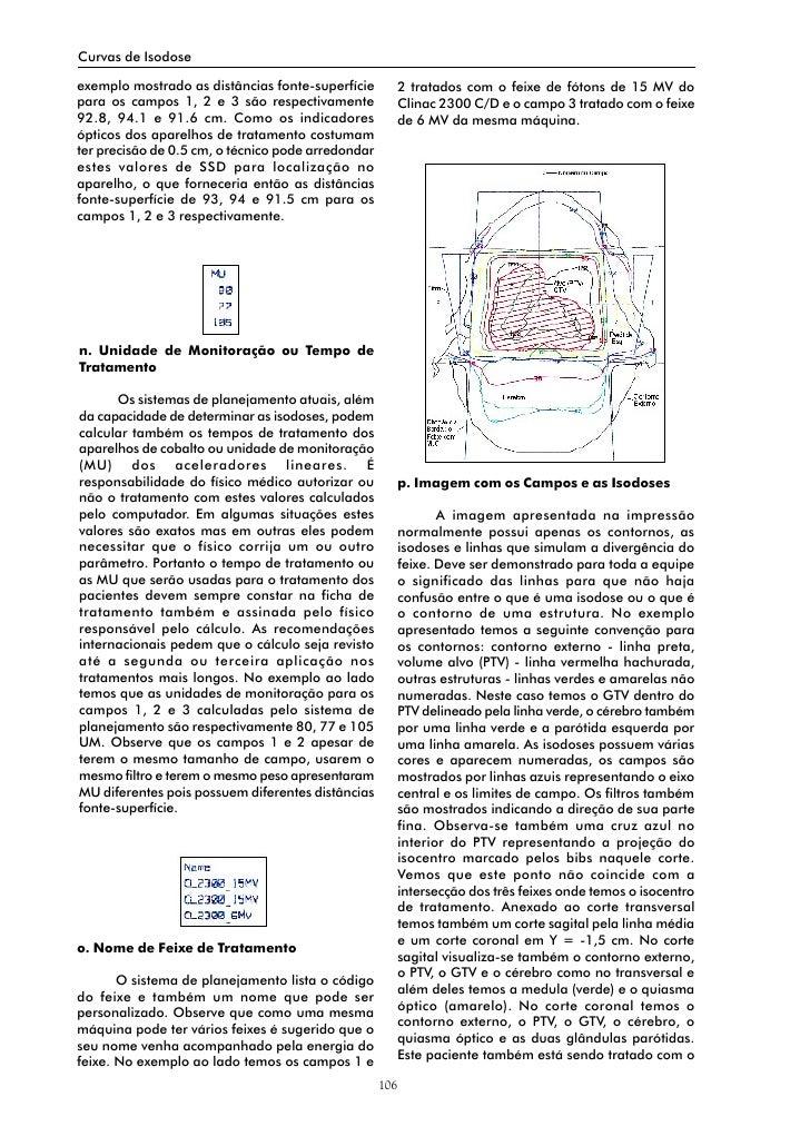 Curvas de Isodose  exemplo mostrado as distâncias fonte-superfície           2 tratados com o feixe de fótons de 15 MV do ...